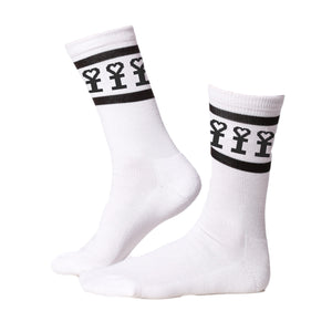 BLACK DH MAN SOCKS IN WHITE