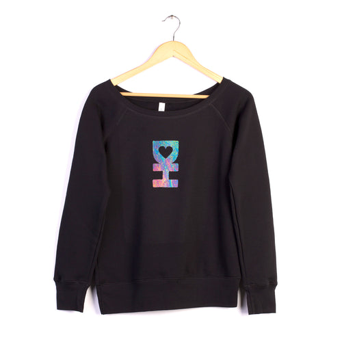 WOMENS ACID DH MAN PULLOVER IN BLACK
