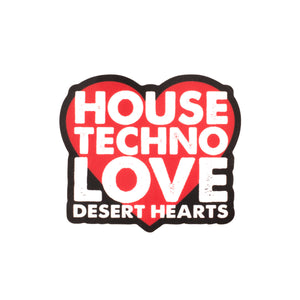 DH HOUSE TECHNO LOVE STICKER