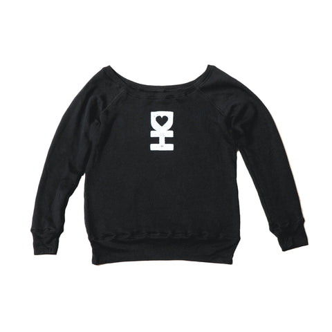 WOMEN'S DH SYMBOL PULLOVER IN BLACK
