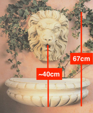 Verona fountain showing flow rate of pump
