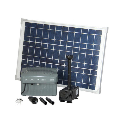 Reefe Solar Fountain Kit w/ Solar Panel & Battery Backup - 2500 L/H