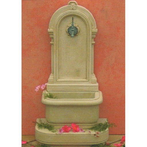 Georgian Concrete Outdoor Wall Fountain - 113cm