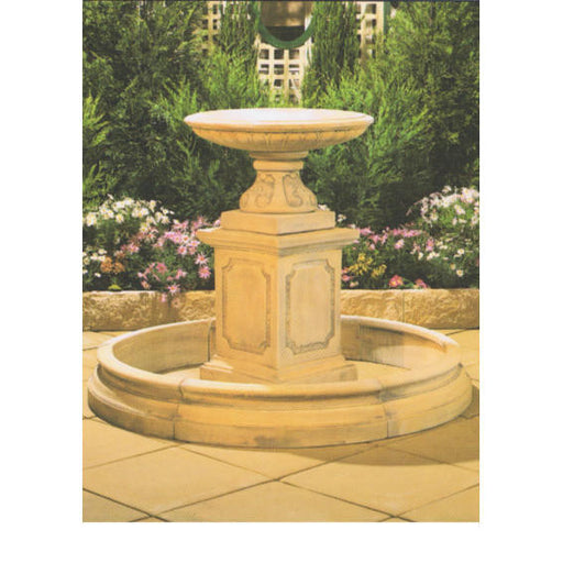 Northbridge Concrete Bird Bath Fountain w/ Classical Pond - 110cm