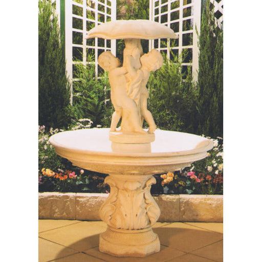 Umbrella Concrete Bowl Water Feature  - 162cm