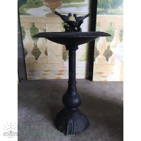 Image of Cast Iron Two Birds Bird Bath 80cm