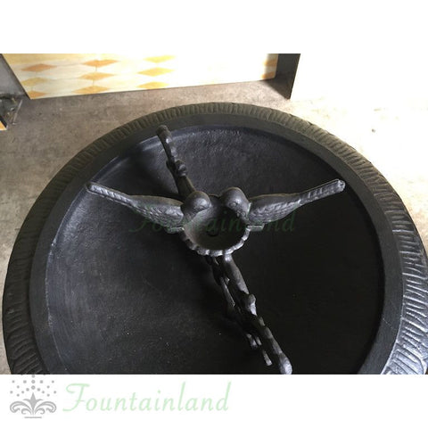 Cast Iron Two Birds Bird Bath
