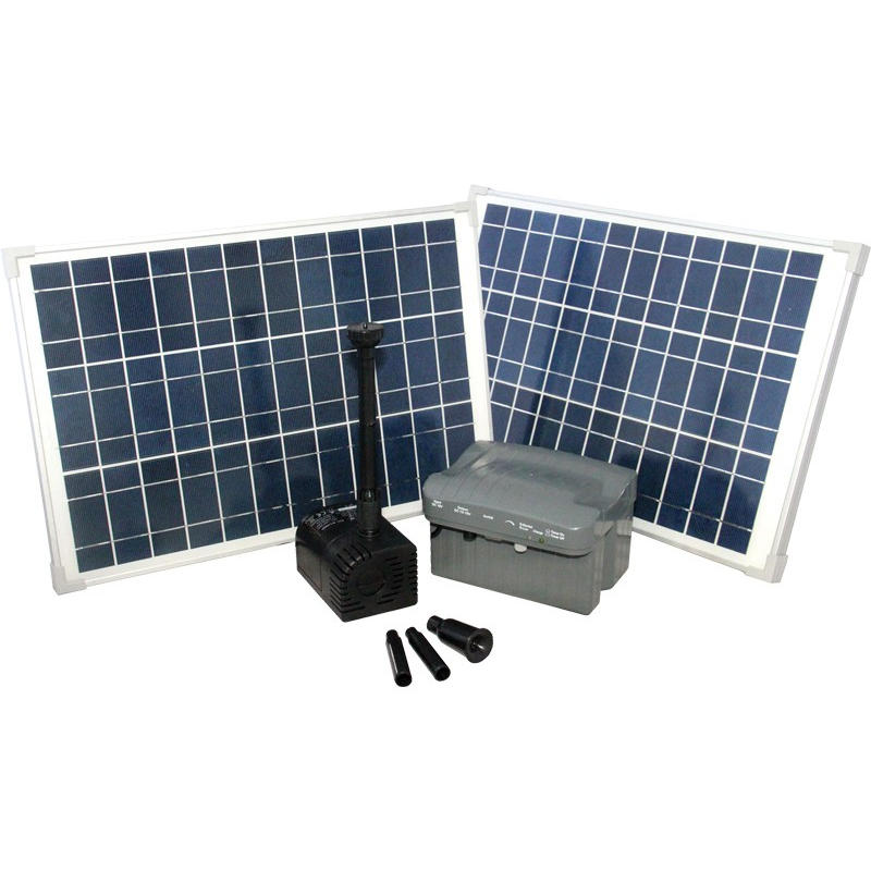 Reefe Solar Fountain Kit w/ Solar Panel & Battery Backup - 2480 L/H