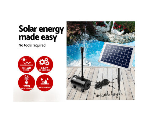 Solar Pump Submersible w/ Solar Panel - 650LPH