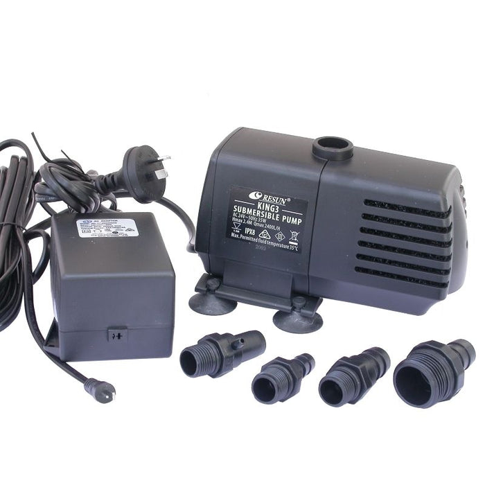 Resun King 3LV Fountain Pump - 24V 2400L/H - Max Head 2.35m