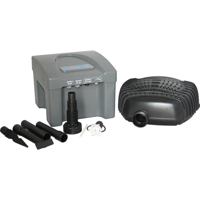 Reefe Solar Fountain Kit w/ Solar Panel & Battery Backup - 800 L/H