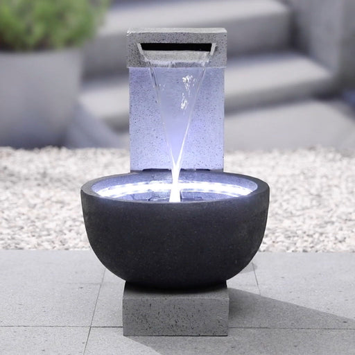 Callisto Pour Bowl Water Fountain w/ LED String - 65cm