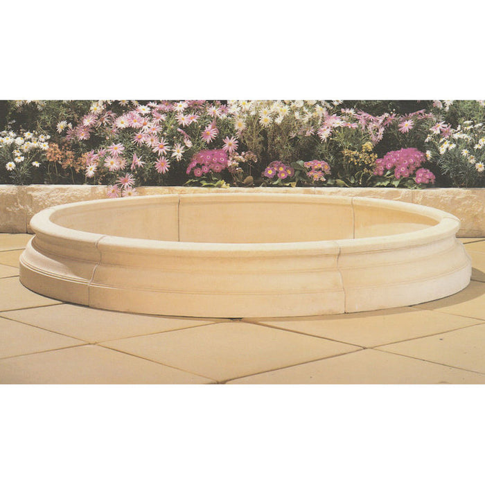 Classical Concrete Fountain Pond (Pond Only) - 150cm