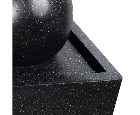Gardeon Solar Powered Water Fountain - Black 82cm