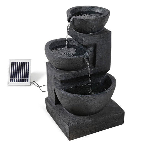 Solar Powered 3-Tier Water Fountain with LED
