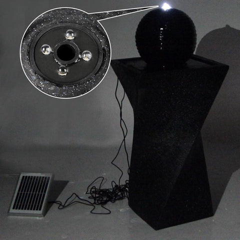 Solar Powered Twist Water Fountain w/ LED