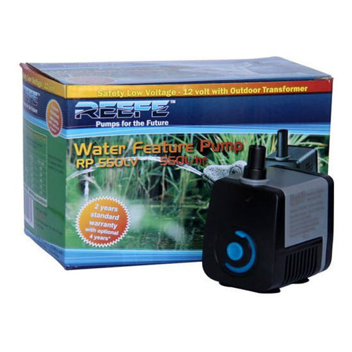 Reefe Pond & Water Fountain Pump Low Voltage 24V - 550LPH