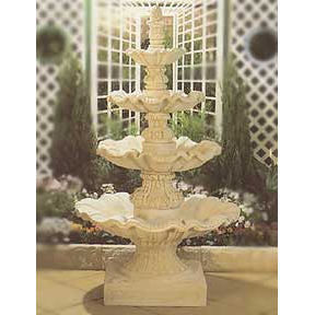 The Galliano 4-Tier Concrete Water Feature - 240cm