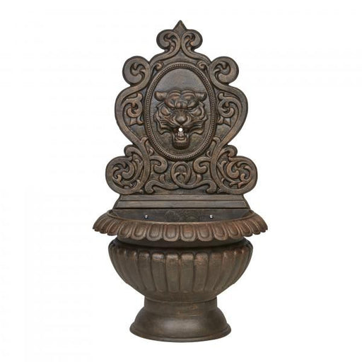 Tiger Face Cast Iron Large Wall Fountain - 120cm
