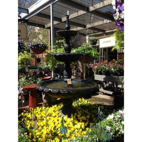 Lisbon 3-Tier Cast Iron Large Water Fountain - 210cm - Self-Contained