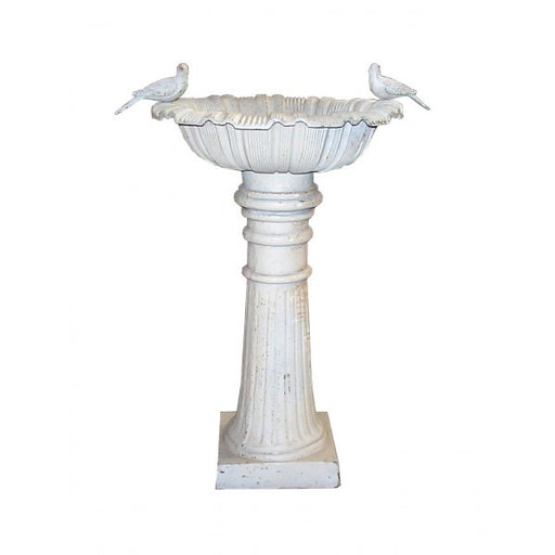 Cast Iron Roman Canterbury Bird Bath - 100cm