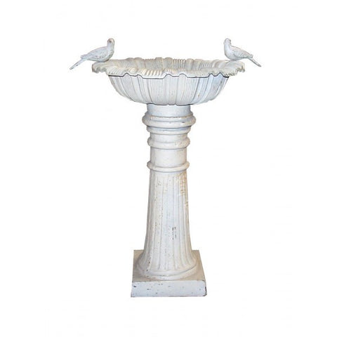 Image of Cast Iron Roman Canterbury Bird Bath 100cm