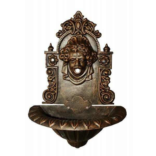Louise Cast Iron Wall Fountain - 78cm