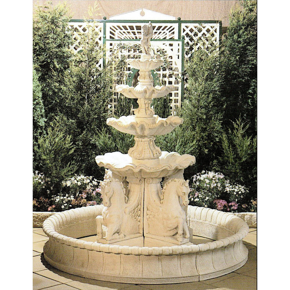 Frangelico 4-Tier Concrete Water Feature w/ Giardino Pond - 275cm