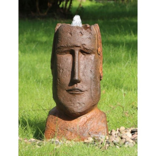 Polynesian Head Water Feature w/ LED and Rusted Effect - 60cm