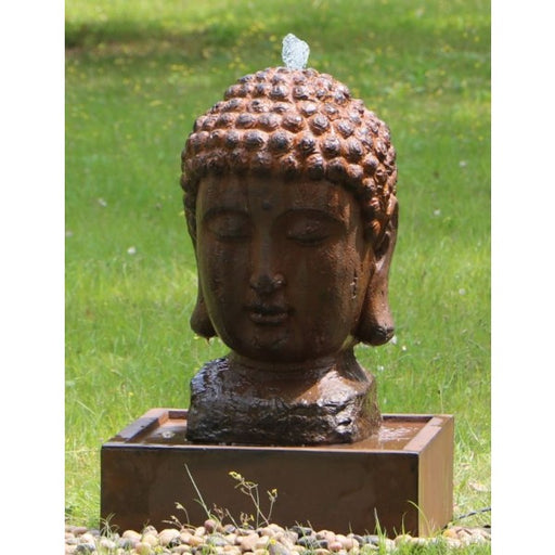 Buddha Head Water Feature w/ LED and Rusted Effect- 75cm