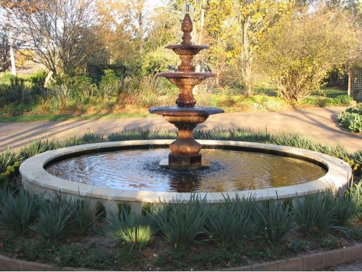 Grenada 3-Tier Large Cast Iron Water Fountain - 210cm