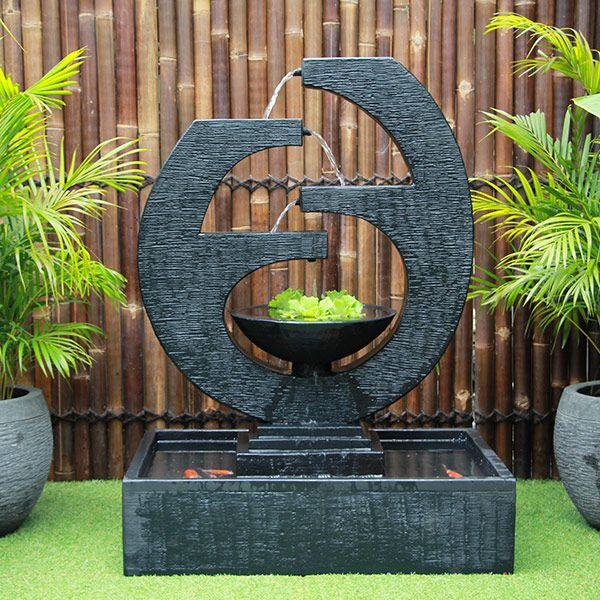 New Eclipse Concrete Modern Water Feature - Medium 130cm
