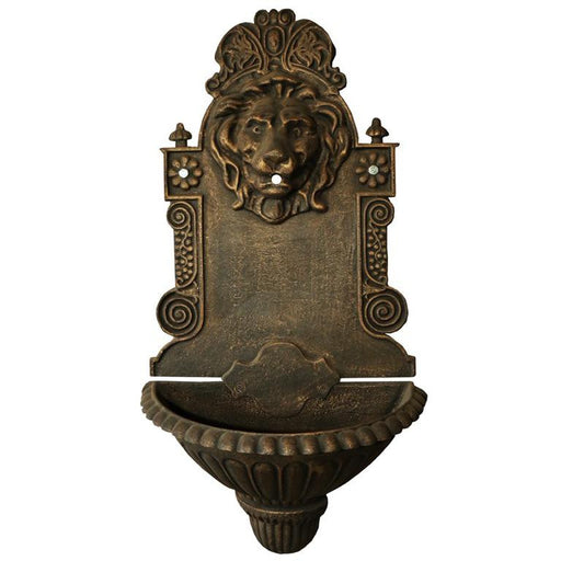 Lion's Zeal Cast Iron Wall Fountain - 77cm