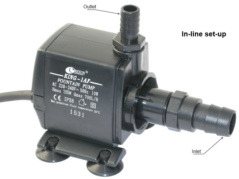 Resun King 1AF Fountain or Pond Pump - 240V 700L/H - Max Head 1m