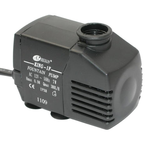 Resun King 1FL Fountain or Waterfall Pond Pump - 12V 380L/hr