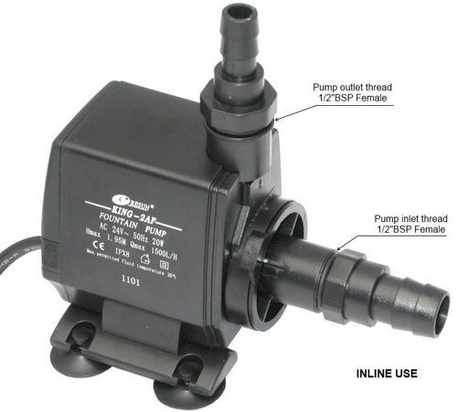 Resun King 2AFLV Fountain or Waterfall Pond Pump - 24V 1500L/hr