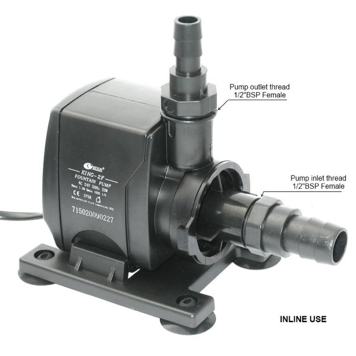 Resun King 2FLV Fountain or Pond Pump - 24V 1000L/H - Max Head 1.7m