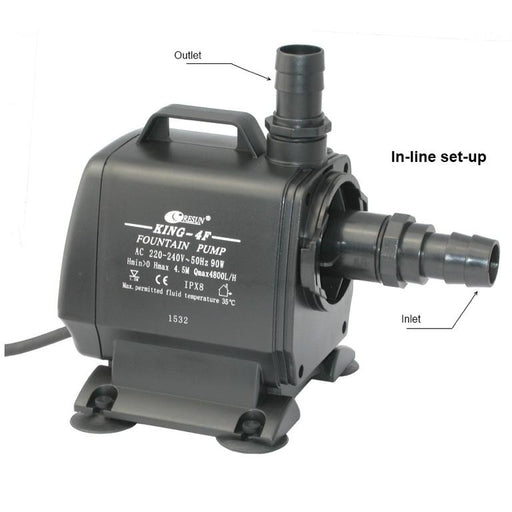 Resun King 4F Fountain or Waterfall Pond Pump - 240V 4800L/hr