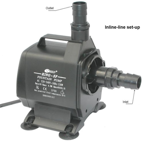 Resun King 5F Fountain or Waterfall Pond Pump - 240V 6000L/hr