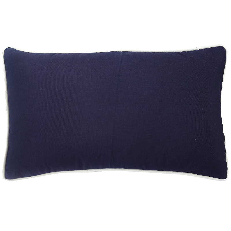 Mirage Haven KIRRA Dark Blue and White Panel Plain Outdoor Cushion Cover