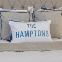 THE HAMPTONS Duck Egg Blue Cushion Cover 30 cm by 50 cm