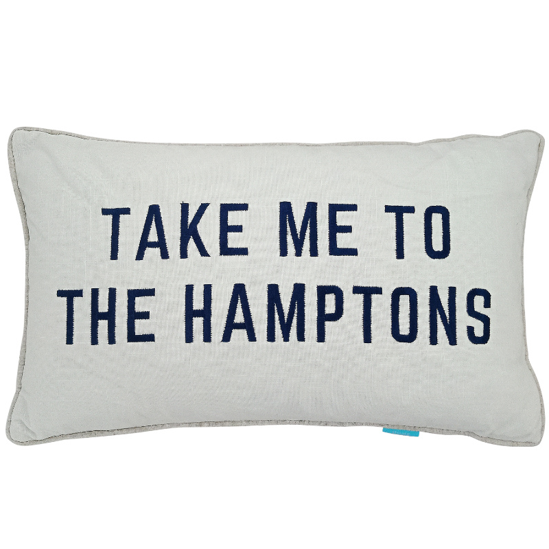 TAKE ME TO THE HAMPTONS Dark Blue Cushion Cover | Hamptons Home