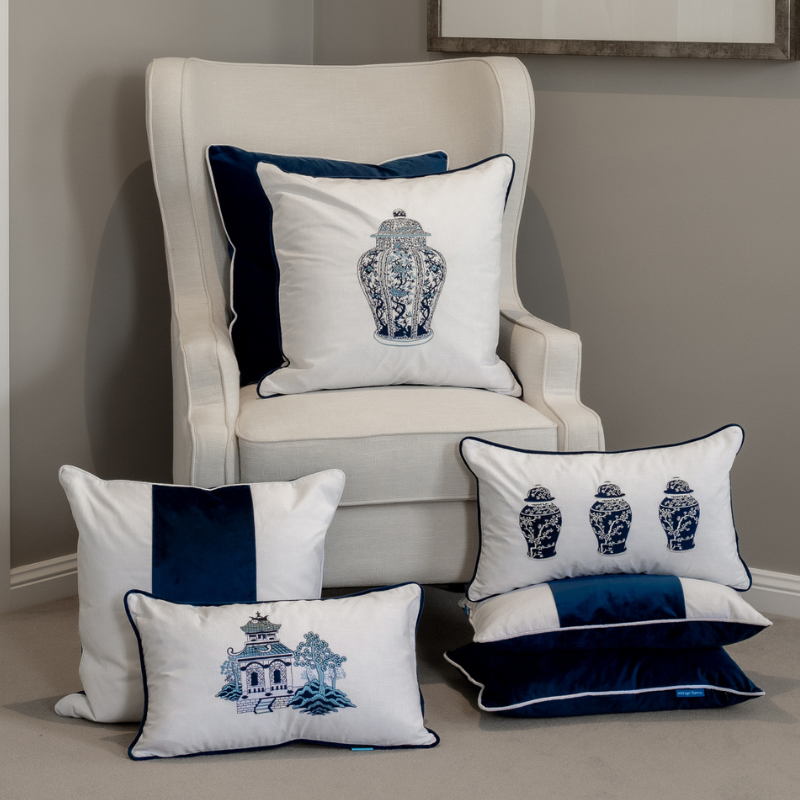 Ginger Jar Blue and White Cushion Cover | Hamptons Home
