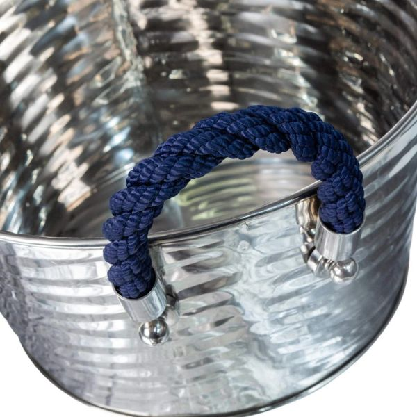 Hamptons Home Havana Blue Rope Wine Tub 41 cm L