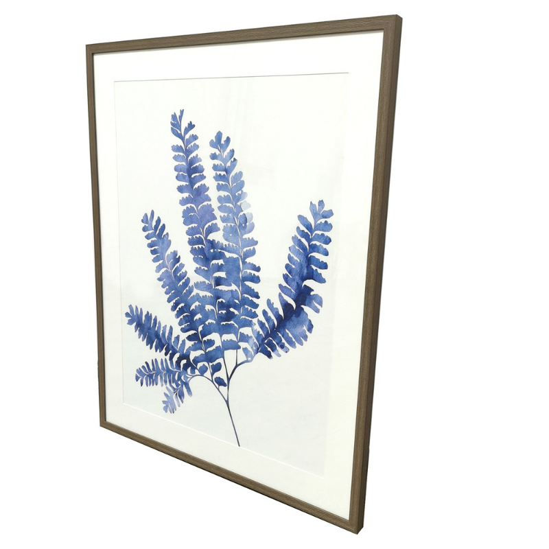 Hamptons Home Blue Boston Fern Print