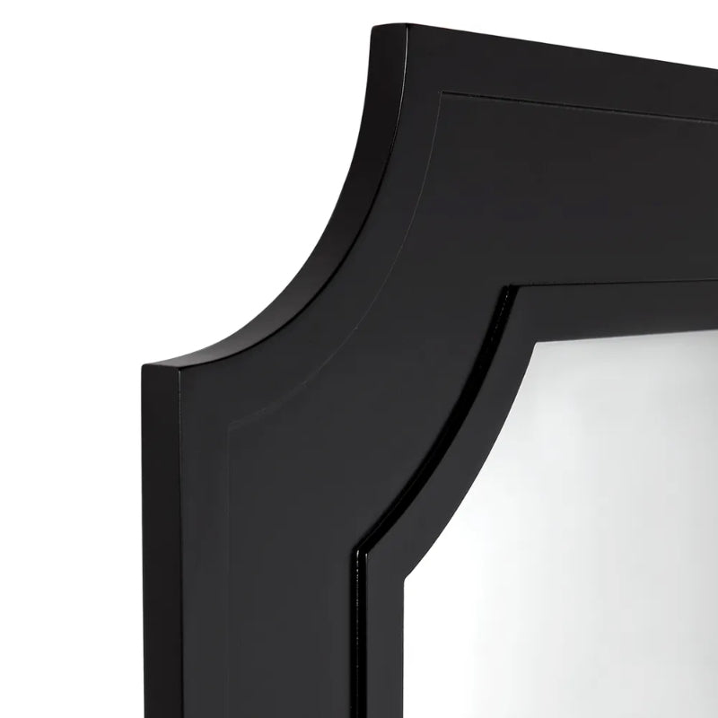 Hamptons Home Bungalow Wall Mirror Black 110 cm H