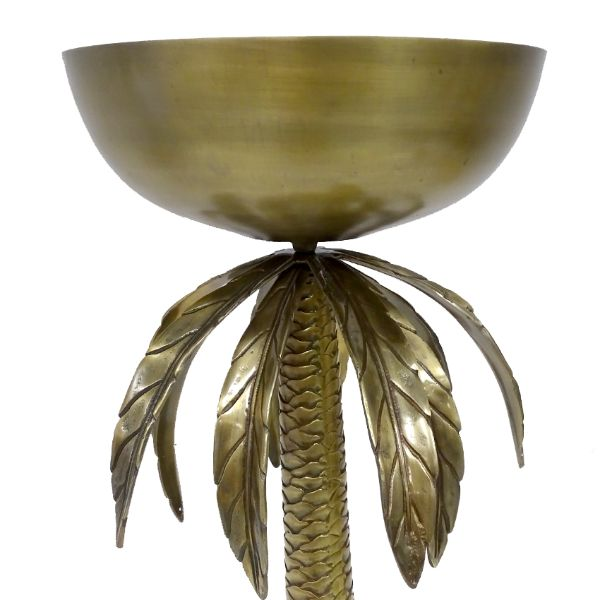 Hamptons Home Oversized Brass Palm Tree Champagne Stand