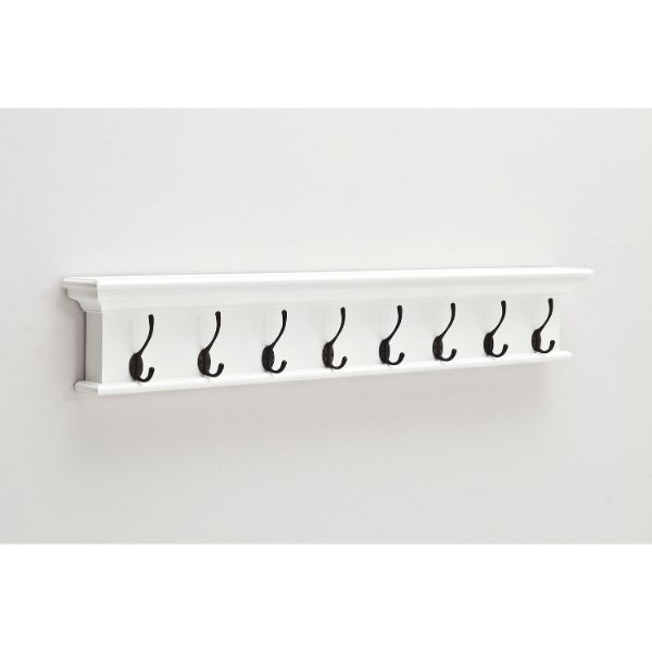 Hamptons Home Wall Mounted Coat Hanger Rack (8-Hook)