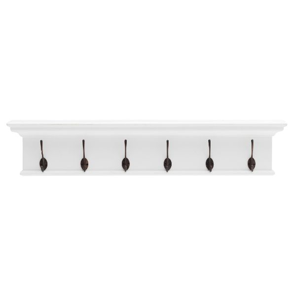 Hamptons Home Wall Mounted Coat Hanger Rack (6-Hook)