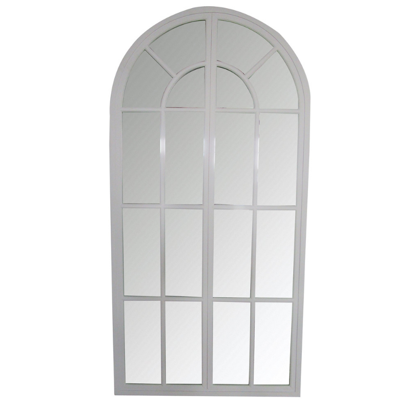 Hamptons Home ELEANOR White Arch Mirror